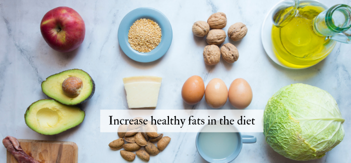 Increase healthy fats in the diet