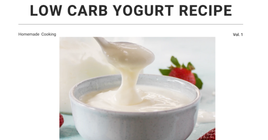 Low Carb Yogurt Recipe